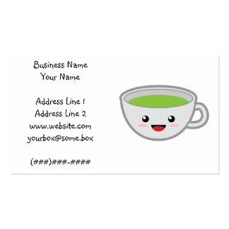Tienda del té de Kawaii Tarjeta Personal