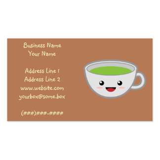 Tienda del té de Kawaii Plantilla De Tarjeta Personal