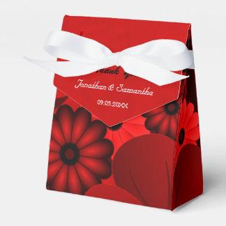 Tienda gótica rojo oscuro floral con la caja del