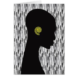 Tienda grosera africana de la tinta de las tarjeta de felicitación