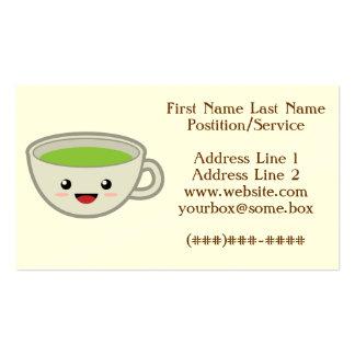Tienda linda del té tarjetas personales