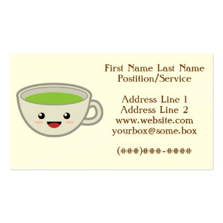 Tienda linda del té tarjetas de visita