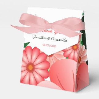 Tienda rosada floral del hibisco con la caja del