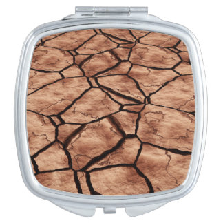 Tierra agrietada espejos de maquillaje
