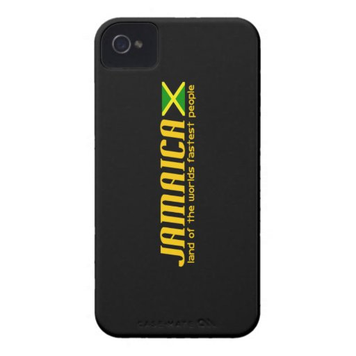 Tierra de JAMAICA del iphone más rápido de la gent iPhone 4 Case-Mate Fundas
