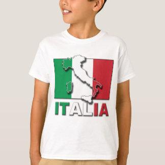 Tierra de la bandera de Italia Camiseta