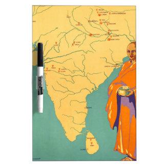 Tierra de la India del viaje de señor Buda Vintage Pizarras