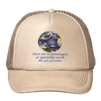 Tierra de la nave espacial, ambiente gorras de camionero
