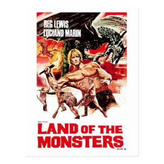 Tierra de la postal de los monstruos