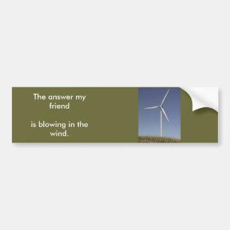 tierra de la viento-turbina, la respuesta mi blowi pegatina para coche