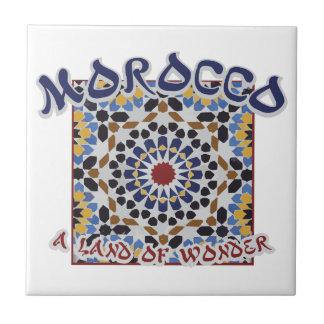 Tierra de Marruecos de la maravilla Azulejo Cuadrado Pequeño