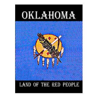 Tierra de Oklahoma de la gente roja Postal