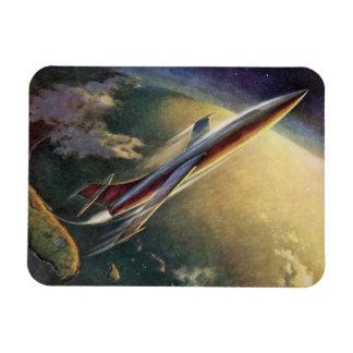 Tierra del aeroplano de la nave espacial de la iman rectangular