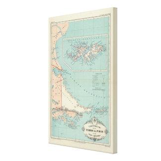 Tierra del Fuego Islas Malvinas la Argentina Impresión En Lona Estirada