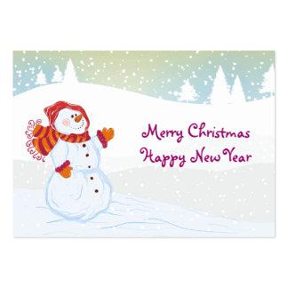 tierra del muñeco de nieve tarjetas de visita grandes
