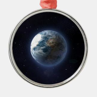 Tierra del planeta adorno para reyes