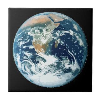 Tierra del planeta azulejo ceramica