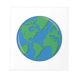 Tierra del planeta libretas para notas