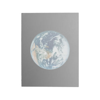 Tierra del planeta bloc de papel