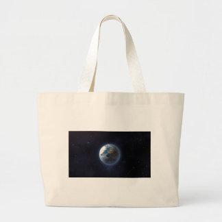 Tierra del planeta bolsas de mano
