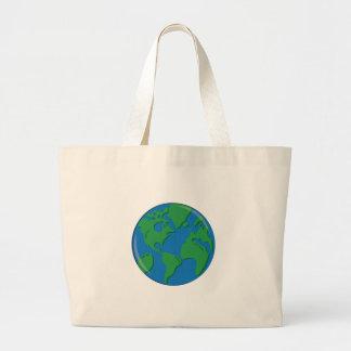Tierra del planeta bolsa de mano