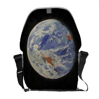 Tierra del planeta bolsa messenger