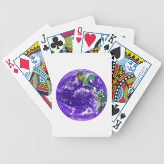 Tierra del planeta cartas de juego