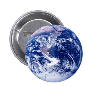 Tierra del planeta chapa redonda 5 cm