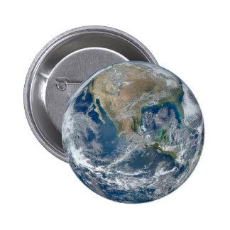 Tierra del planeta chapa redonda de 5 cm