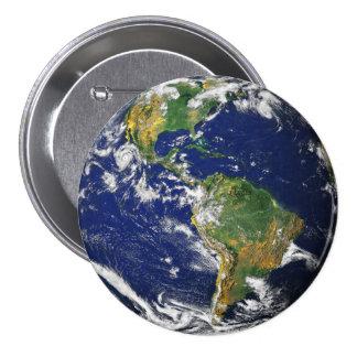 Tierra del planeta chapa redonda de 7 cm