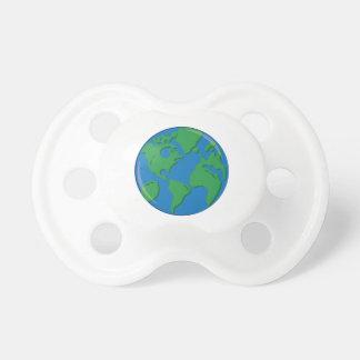 Tierra del planeta chupete de bebé
