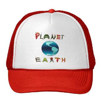 Tierra del planeta con pimientas de chile gorras de camionero
