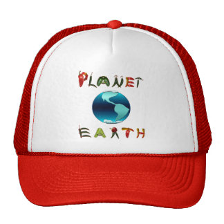 Tierra del planeta con pimientas de chile gorros bordados