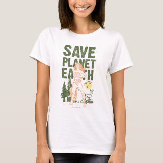 Tierra del planeta de la reserva de la Mujer Camiseta