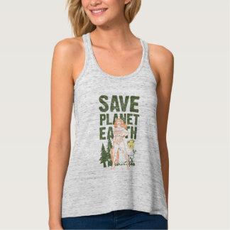 Tierra del planeta de la reserva de la Mujer Camiseta De Tirantes Cruzados Holgada
