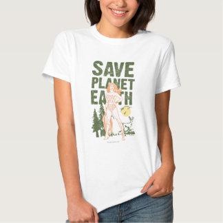 Tierra del planeta de la reserva de la Mujer Camisetas