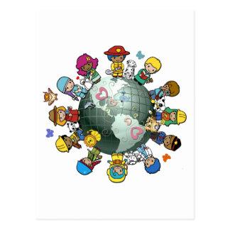 Tierra del planeta del amor Una para la paz Postales