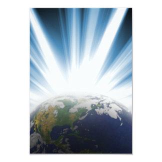 Tierra del planeta del espacio invitación 8,9 x 12,7 cm