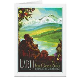 Tierra del planeta - ejemplo de la ecología de la tarjeta de felicitación