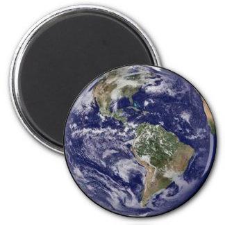 Tierra del planeta imán redondo 5 cm