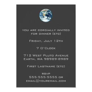 Tierra del planeta invitación 12,7 x 17,8 cm