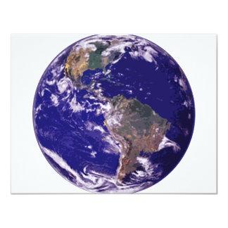 Tierra del planeta invitación 10,8 x 13,9 cm