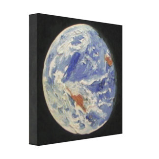 Tierra del planeta lienzo