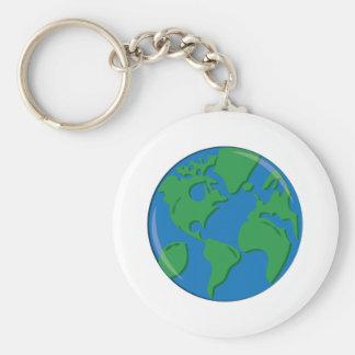 Tierra del planeta llaveros personalizados