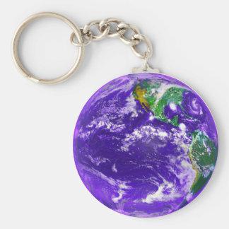 Tierra del planeta llaveros