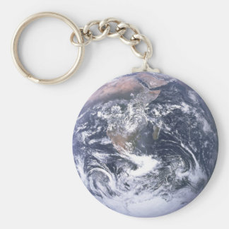 Tierra del planeta llavero redondo tipo chapa