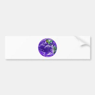 Tierra del planeta pegatina para coche