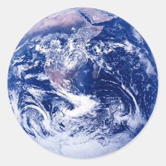 Tierra del planeta pegatinas redondas
