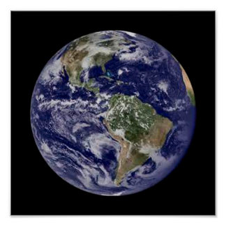 Tierra del planeta póster