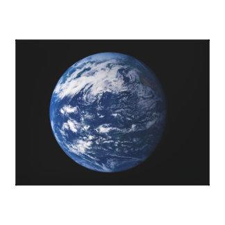 Tierra del planeta que mira el Océano Pacífico Impresiones En Lienzo Estiradas